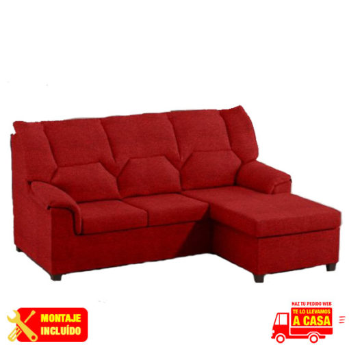 Chaise Longe Jamaica Rojo Montaje+Transporte
