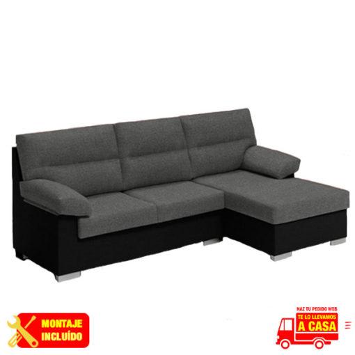 chaise longue aruba sofia gris-negro Montaje+Transporte