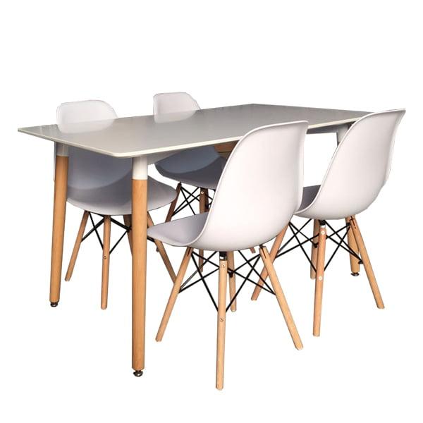 Conjunto mesa 4 sillas estilo n rdico tiendas anticrisis el castor - Conforama mesas y sillas ...