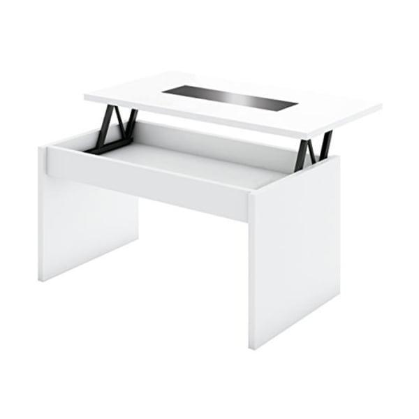 Mesa de centro elevable oca blanca tiendas anticrisis for Mesa cristal oca