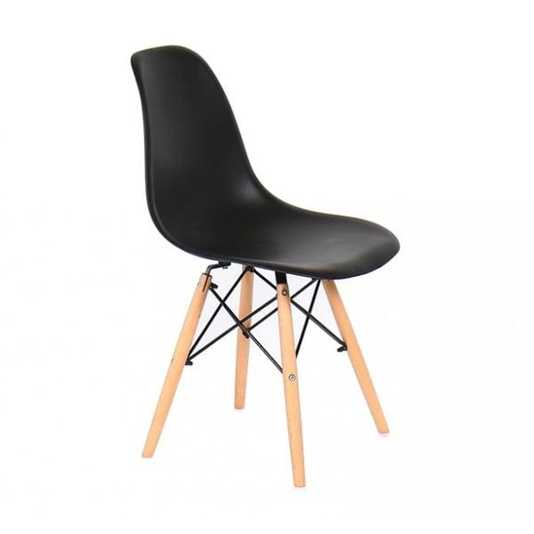 Pack 4x sillas n rdicas negro tiendas anticrisis - Silla nordica negra ...