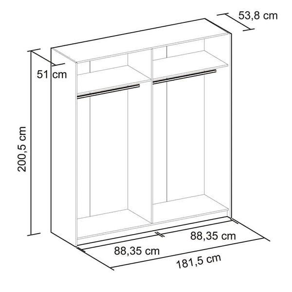 Medidas armario puertas correderas plaf
