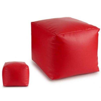 Puff cuadrado Rojo