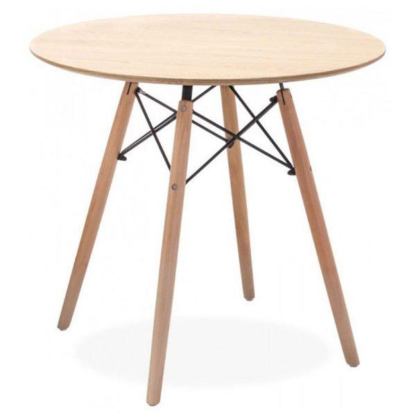 Mesa nórdica tamaño normal para salón en madera