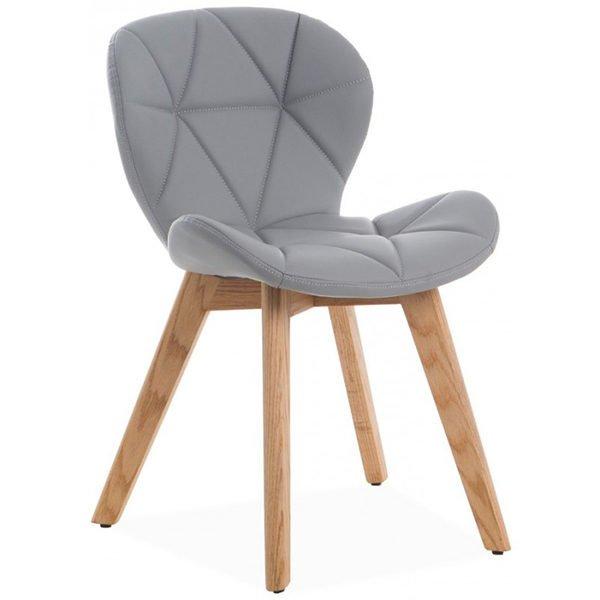 sillón rubo penta nórdico en polipel gris
