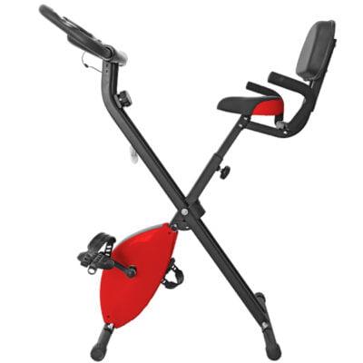 Bicicleta Estática Plegable Con Respaldo Rojo