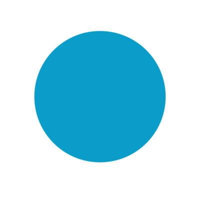 Reloj Disco Azul