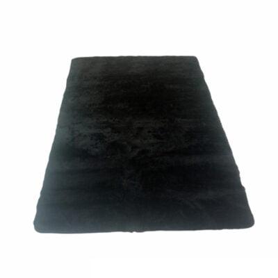 Alfombra pelo color negro